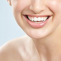 Photo of teeth after a dental checkup